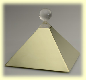 The Amanda Pyramid is a protector and transfers your home into a vibrating power place